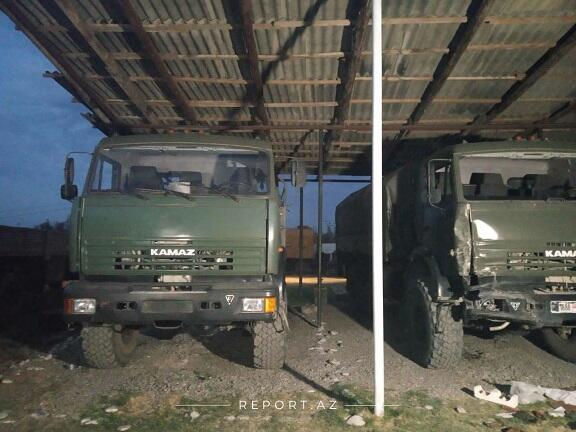 Erməni hərbi texnikaları Bakıda - Video