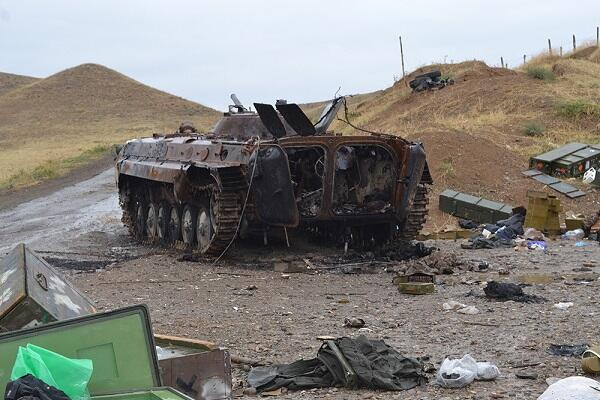Enemy's armored vehicles were destroyed -