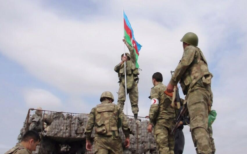Azerbaijani flag raised in Lachin -
