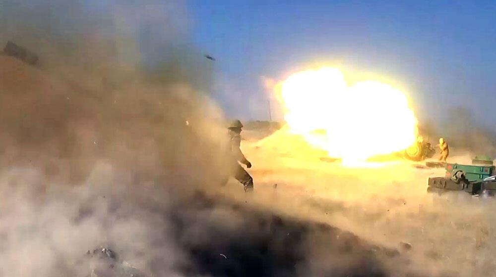 Artilleriyaçılarımız düşməni belə məhv edir - Video