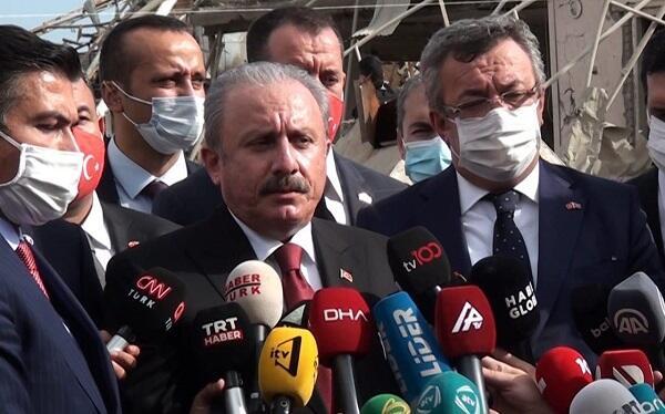 Şəntop Gəncədə ballistik raket düşən yerə baxdı - Video