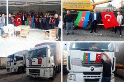 Türkiyəli sürücülərdən Azərbaycana dəstək - Foto