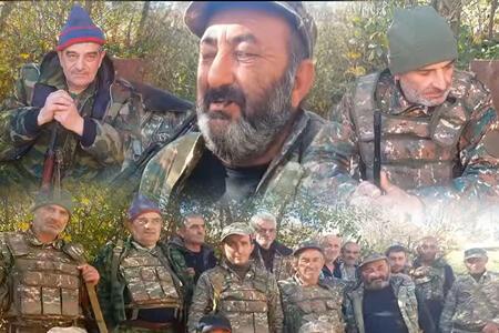 Ermənilər yenə qocaları cəbhəyə yığır - Foto