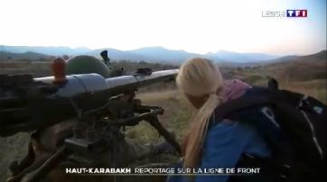 Fransanın kanalı cəbhədən reportaj yayımladı