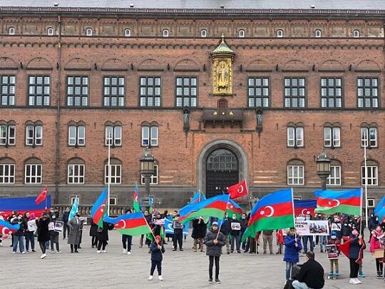 Danimarkada erməni vəhşiliyinə qarşı aksiya