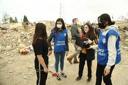 Erməni terrorundan zərər çəkənlərə yardım edilir - Foto