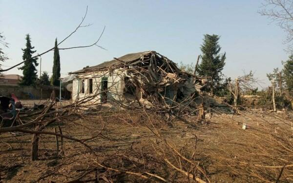 The enemy's Smerch destroyed a house in Tartar