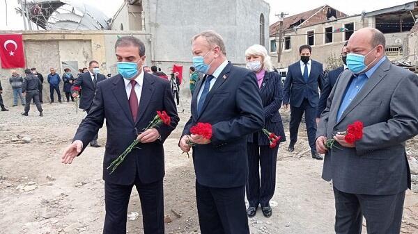 Belarus səfiri Gəncəyə gəldi - Foto