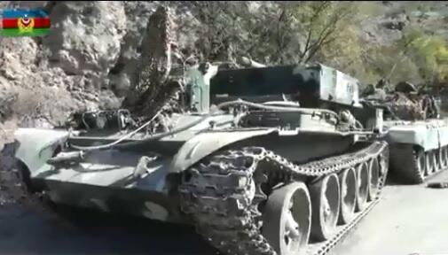 Qubadlıda düşmənin qoyub qaçdığı hərbi texnika - Video