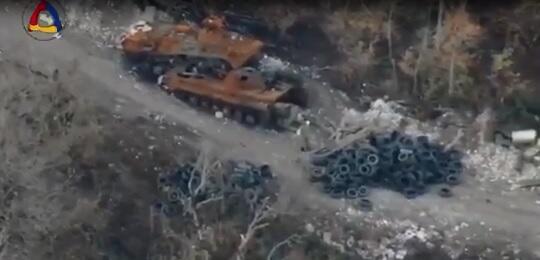 """Ermənilərin """"vurduğu"""" 2 tank özlərininki çıxdı - Video"""