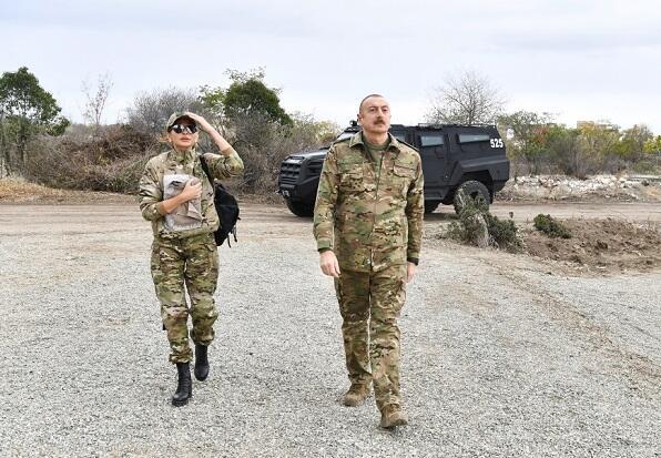 Ilham Aliyev in Khojaly -