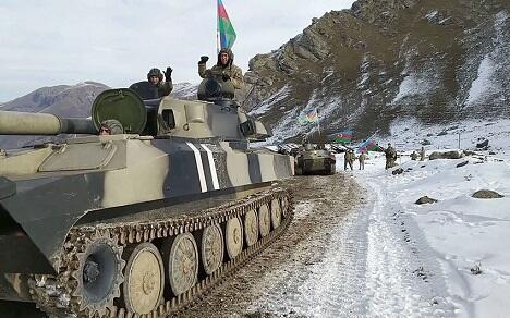 Azerbaijani troops' movement in Kalbajar -