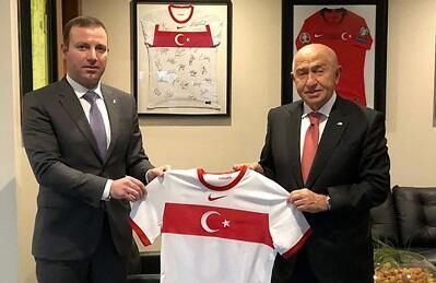 Məmmədov TFF prezidenti ilə görüşdü - Foto