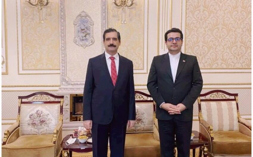 Türkiyə və İran səfirləri Bakıda görüşdü - Foto