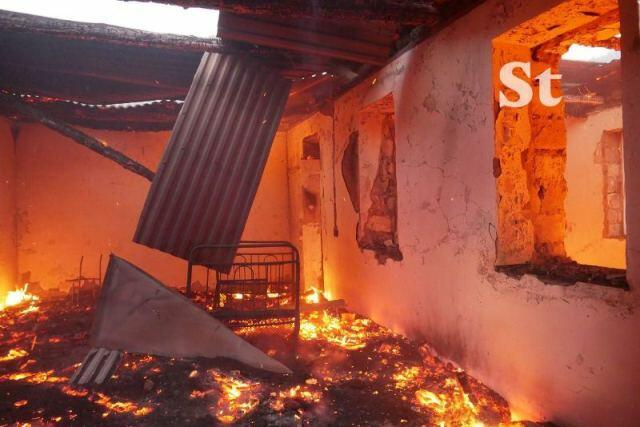 Armenians are now setting fire on Lachin -