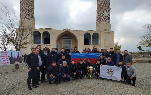"""Hikmət Hacıyev və """"Qarabağ"""" klubu Ağdamda - Foto"""