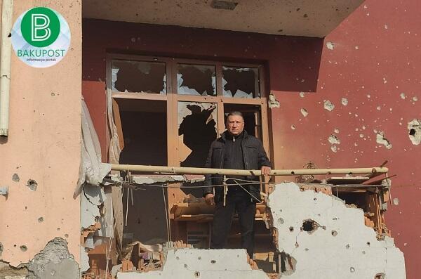 Diplomatlar ermənilərin Tərtərdə dağıtdığı evlərə baxdı