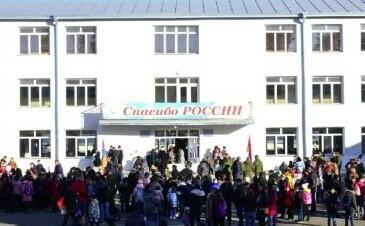 Xankəndidə ilk məktəb açıldı: Sağ ol, Rusiya!