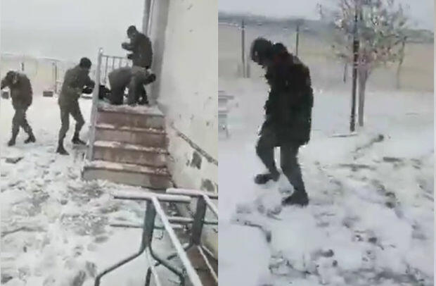It is snowing in Shusha -