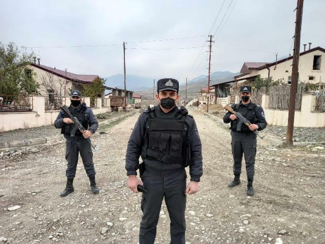 Polis Qubadlıda təhlükəsizliyi gücləndirir – Foto