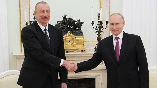 Ilham Aliyev spoke with Putin