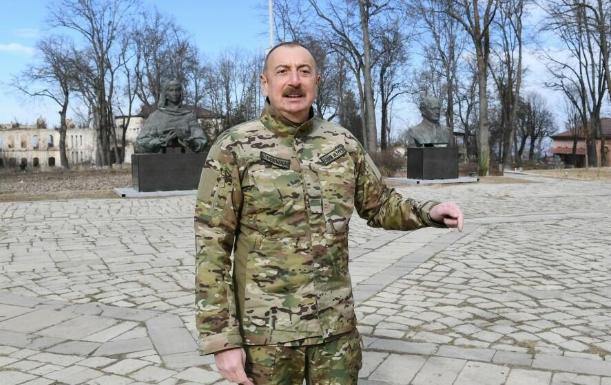 Ilham Aliyev is paying a visit to Shusha