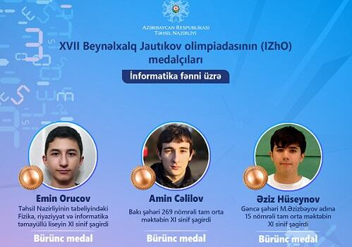 Şagirdlərimiz olimpiadada 15 medal qazandı