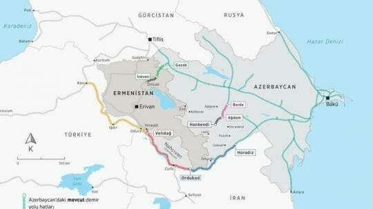 A railway is being built from Aghdam to Khankendi -
