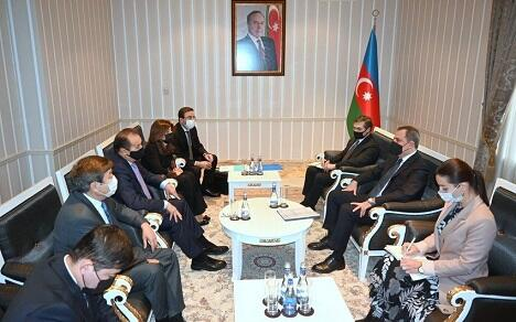 Jeyhun Bayramov met with TURKSOY Secretary General