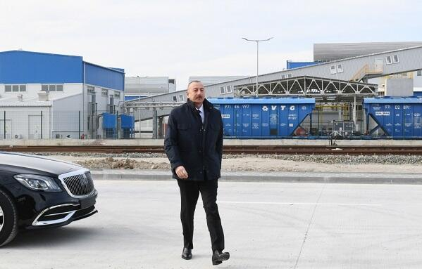 Prezident Sumqayıtda açılış etdi - Foto