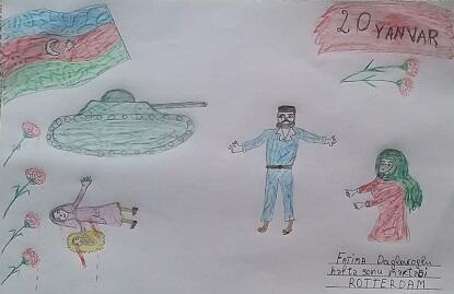"""Haaqada """"20 Yanvar uşaqların gözü ilə""""... - Foto"""