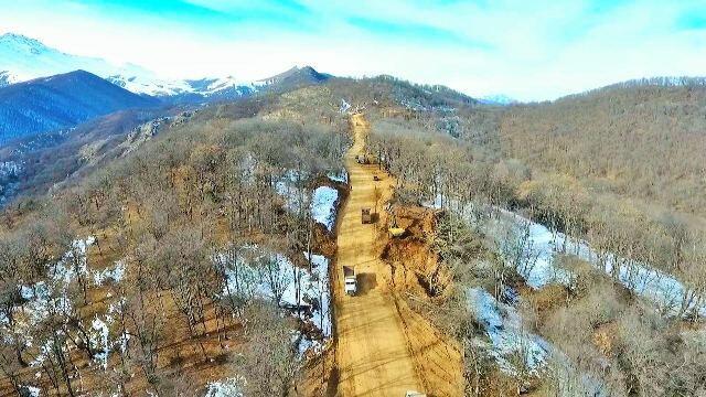 Azad edilmiş ərazilərdə 80 kilometr yeni yol çəkildi