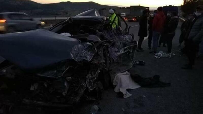 Ankara yolunda dəhşətli qəza: 5 ölü, 2 yaralı