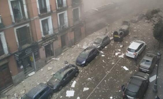 A powerful explosion in Madrid: there are dead -