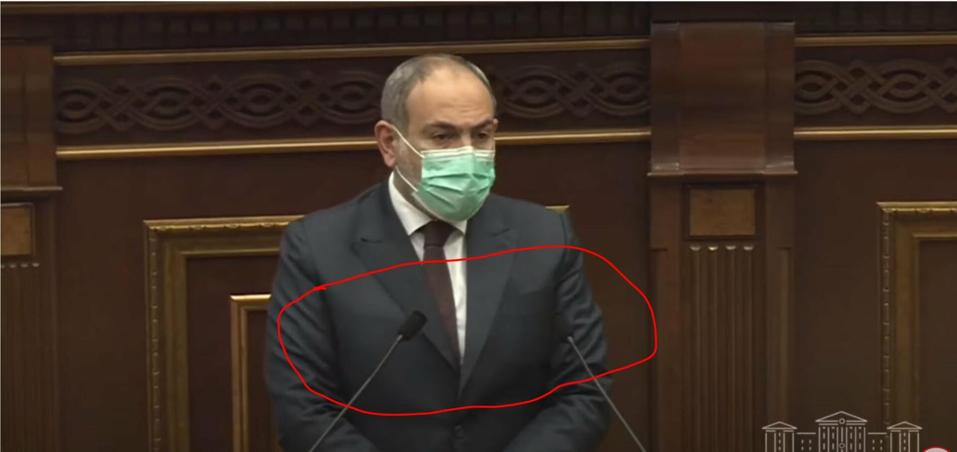 Pashinyan came to parliamentary session in an armored vest