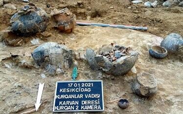 """""""Keşikçidağ""""da tarixi abidələr aşkarlandı - Foto"""