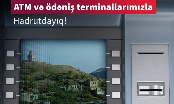 Kapital Bank Hadrutda bankomat və terminal quraşdırdı