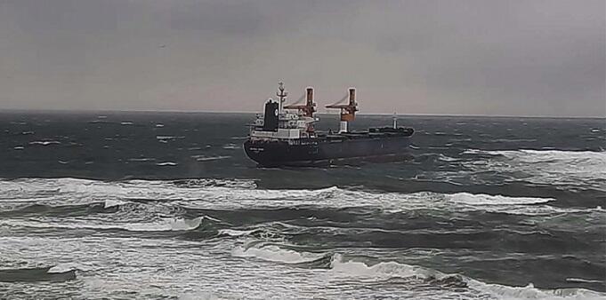 Rusiyaya gedən gəmi İstanbulda saya oturdu - Foto