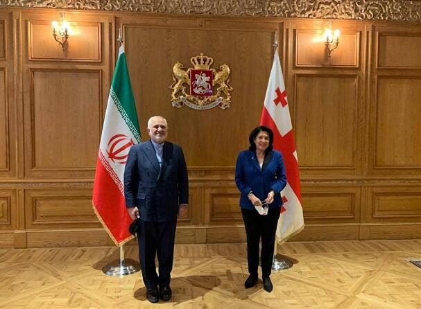 Zarif confers with Georgian president