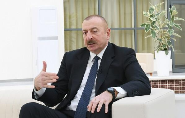 Ilham Aliyev gave an interview to AzTV