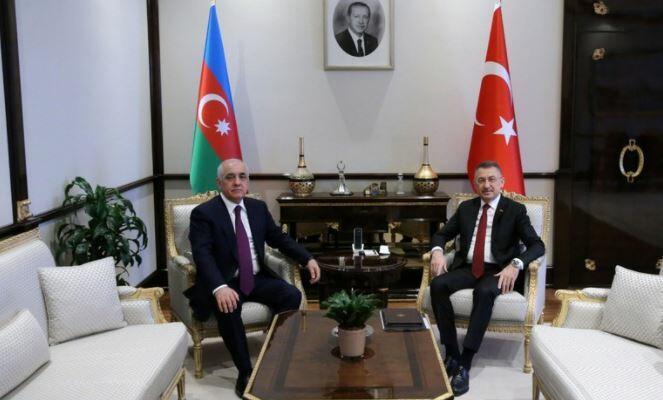 Əsədov Türkiyə vitse-prezidenti ilə danışdı
