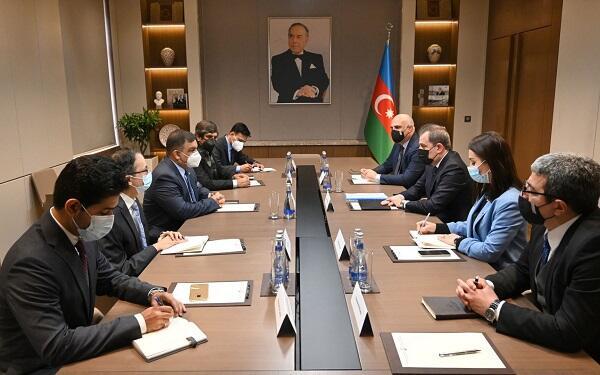 Ceyhun Bayramov Pakistan rəsmisi ilə görüşdü - Foto