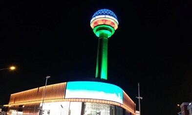 Башня Атакуле окрасилась в флаг Азербайджана