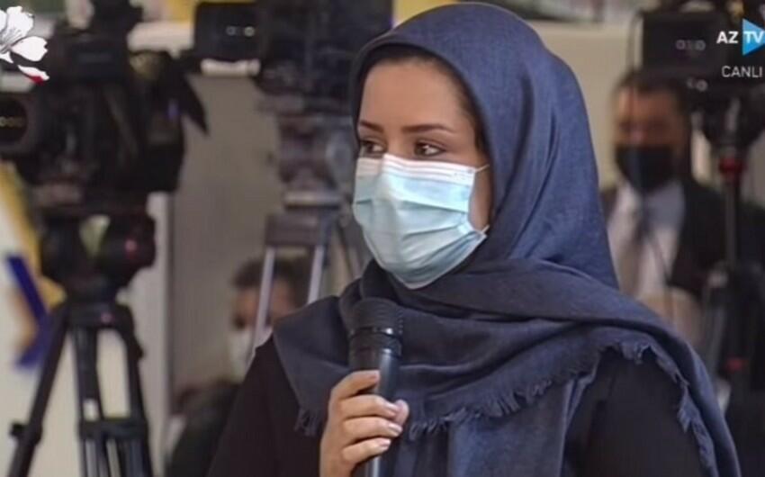 Prezident iranlı jurnalisti sualına peşman etdi