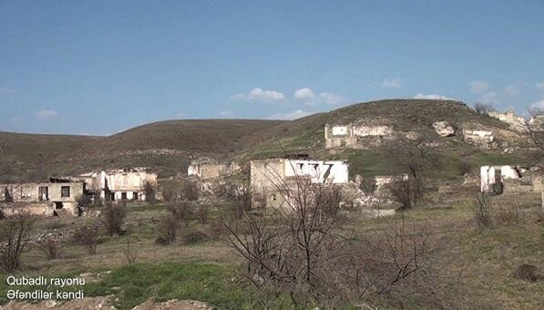 Afandilar village of the Gubadli region -