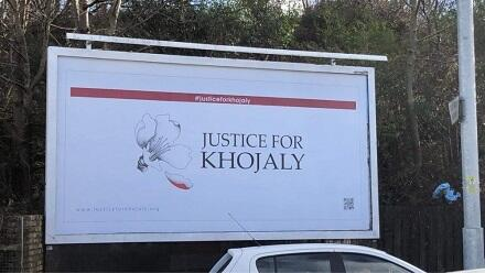 """Justice for Khojaly!"" board installed in Glasgow -"