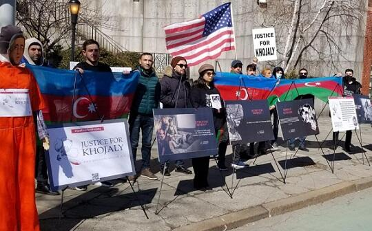 An exhibition on Khojaly was held in front of the UN building