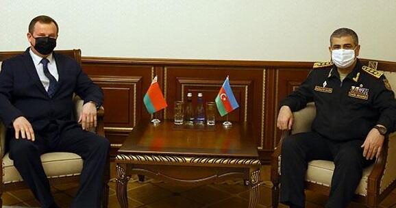 Belarusla hərbi əməkdaşlıq müzakirə olundu - Foto