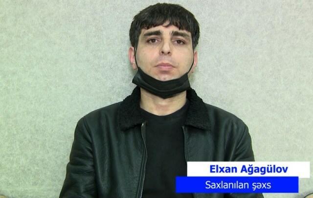Bakıda soyğunçuluq edən şəxs saxlanıldı - Video