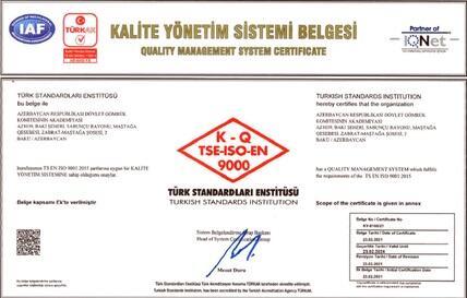 Gömrük Akademiyası beynəlxalq sertifikata layiq görüldü